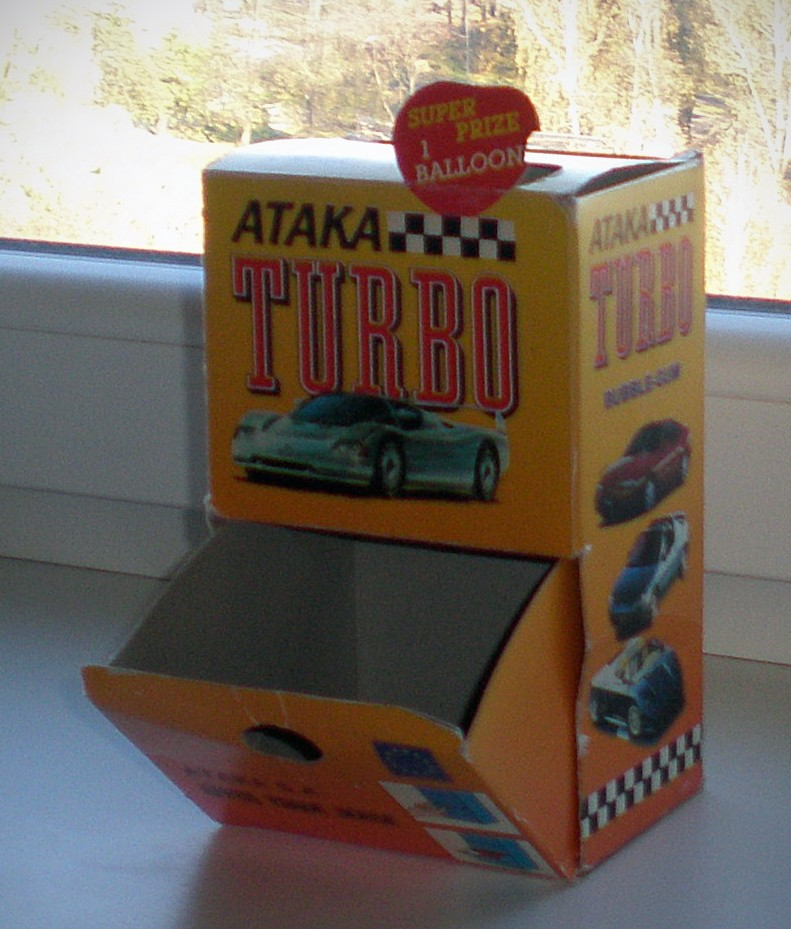 turbo ataka bubble-gum box